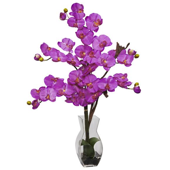 Phalaenopsis w/Vase Silk Flower Arrangement - SKU #1191 - 1