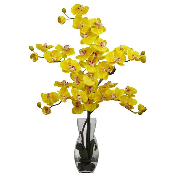 Phalaenopsis w/Vase Silk Flower Arrangement - SKU #1191 - 3