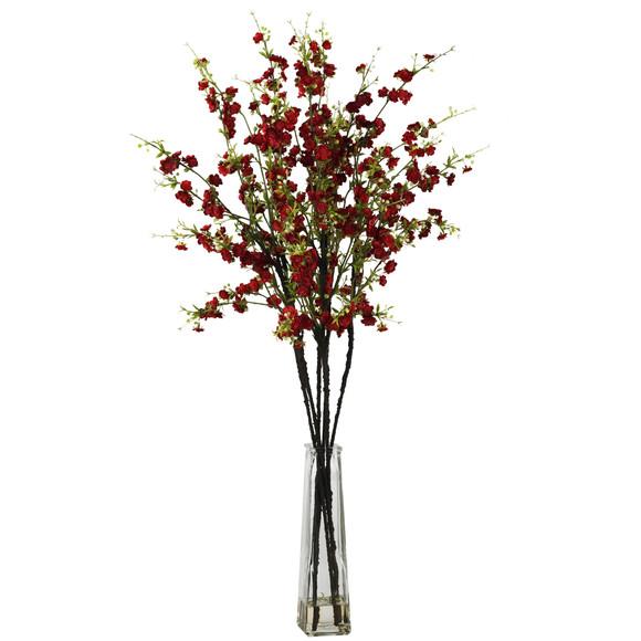 Cherry Blossoms w/Vase Silk Flower Arrangement - SKU #1193