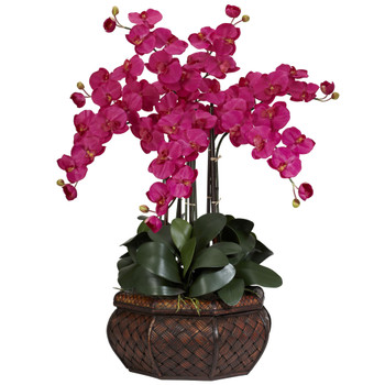 Large Phalaenopsis Silk Flower Arrangement - SKU #1201