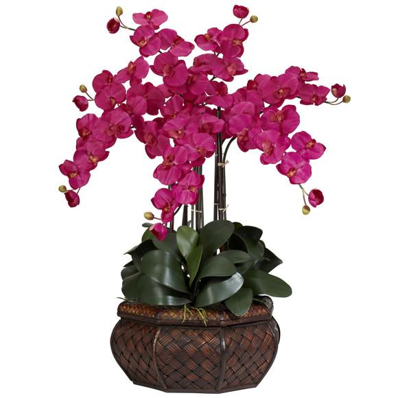 Large Phalaenopsis Silk Flower Arrangement - SKU #1201