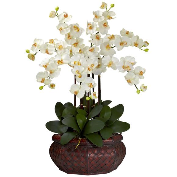 Large Phalaenopsis Silk Flower Arrangement - SKU #1201 - 5