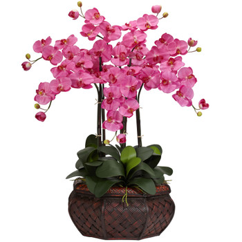 Large Phalaenopsis Silk Flower Arrangement - SKU #1201-DP