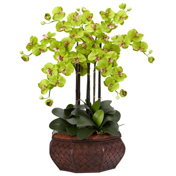 Large Phalaenopsis Silk Flower Arrangement - SKU #1201 - 7