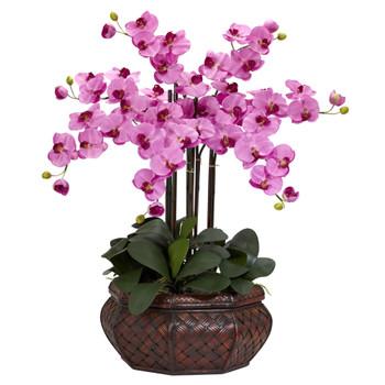Large Phalaenopsis Silk Flower Arrangement - SKU #1201-MA