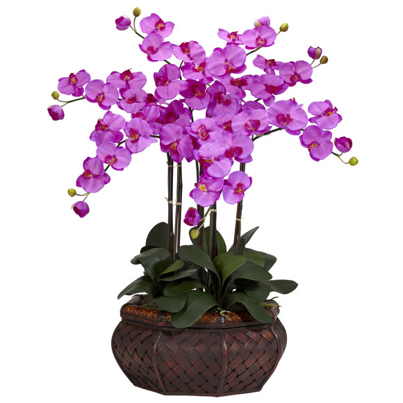 Large Phalaenopsis Silk Flower Arrangement - SKU #1201 - 1