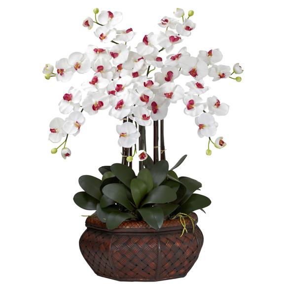 Large Phalaenopsis Silk Flower Arrangement - SKU #1201 - 2