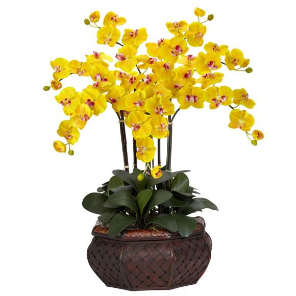 Large Phalaenopsis Silk Flower Arrangement - SKU #1201 - 4