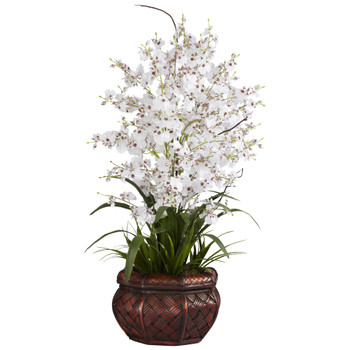 Dancing Lady Silk Flower Arrangement - SKU #1207