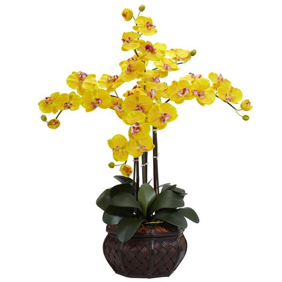Phalaenopsis w/Decorative Vase Silk Flower Arrangement - SKU #1211 - 4