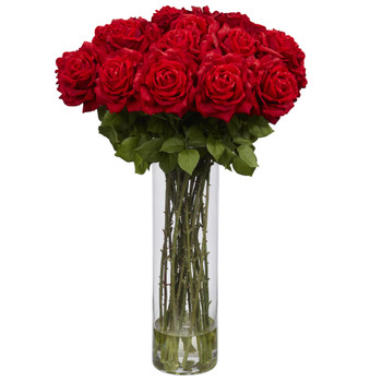 Giant Rose Silk Flower Arrangement - SKU #1214