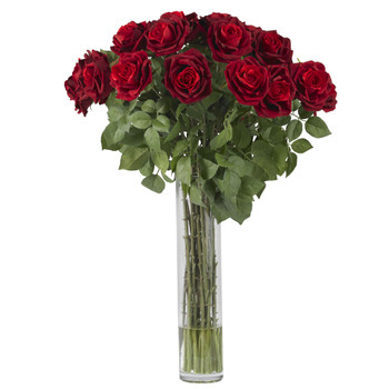 Large Rose Silk Flower Arrangement - SKU #1215