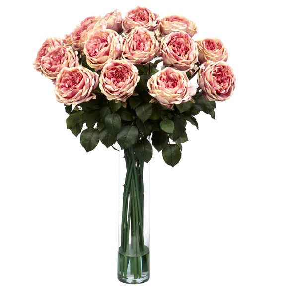 Fancy Rose Silk Flower Arrangement - SKU #1219 - 1