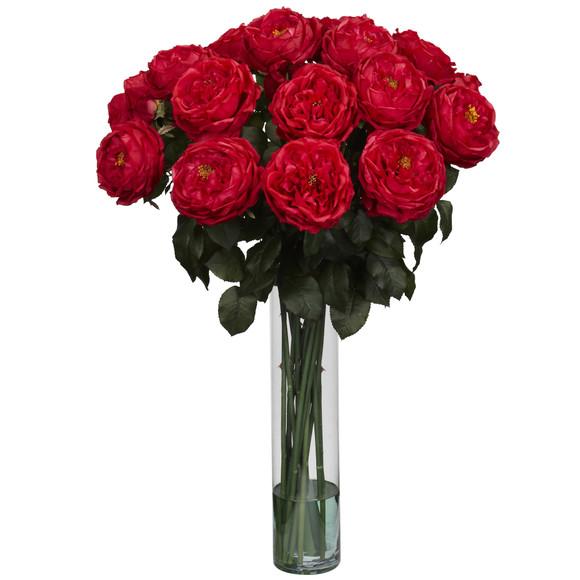Fancy Rose Silk Flower Arrangement - SKU #1219