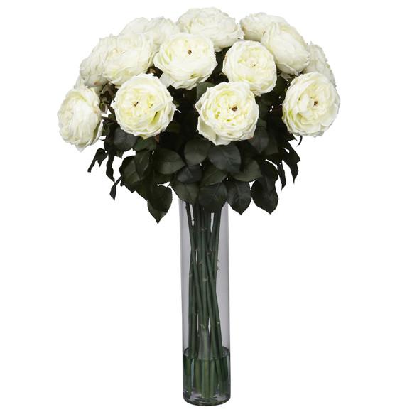 Fancy Rose Silk Flower Arrangement - SKU #1219 - 2