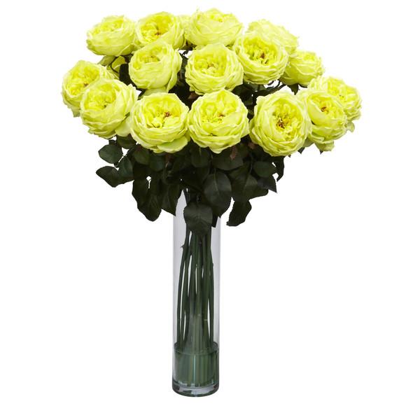 Fancy Rose Silk Flower Arrangement - SKU #1219 - 3