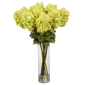 Giant Hydrangea Silk Flower Arrangement - SKU #1223
