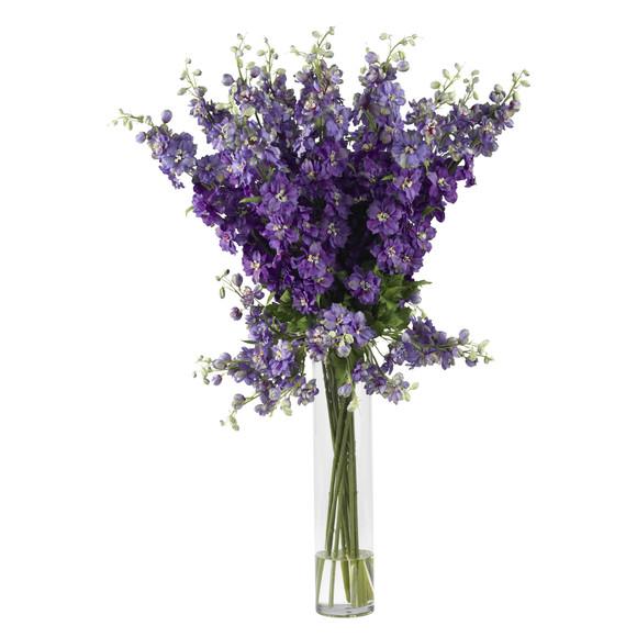 Delphinium Silk Flower Arrangement - SKU #1224 - 1