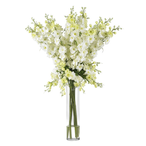 Delphinium Silk Flower Arrangement - SKU #1224