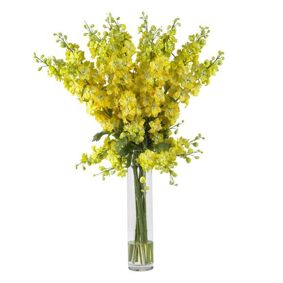 Delphinium Silk Flower Arrangement - SKU #1224 - 2