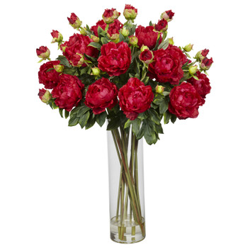 Giant Peony Silk Flower Arrangement - SKU #1231