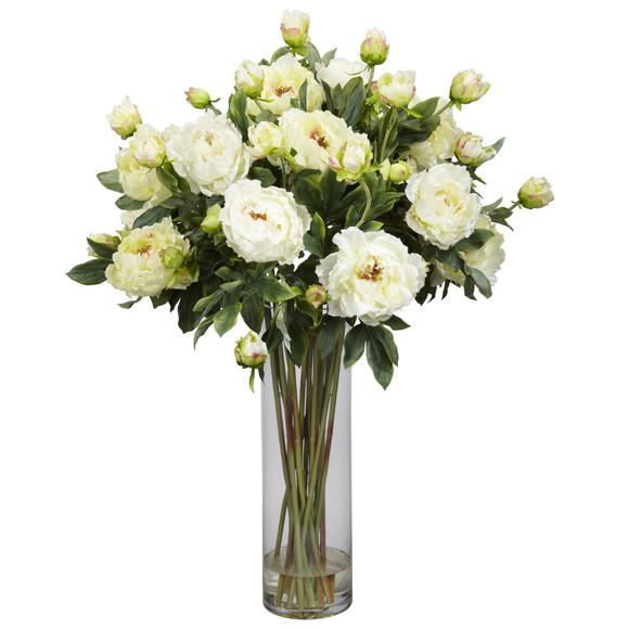 Giant Peony Silk Flower Arrangement - SKU #1231 - 1