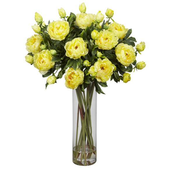 Giant Peony Silk Flower Arrangement - SKU #1231 - 2