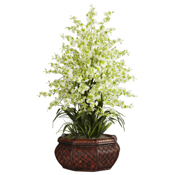 Large Dancing Lady w/Round Vase Silk Arrangement - SKU #1244 - 3