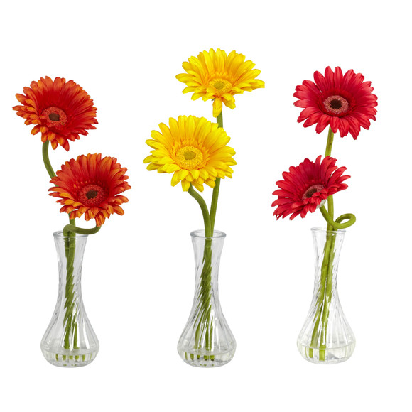 Gerber Daisy w/Bud Vase Set of 3 - SKU #1248-S3