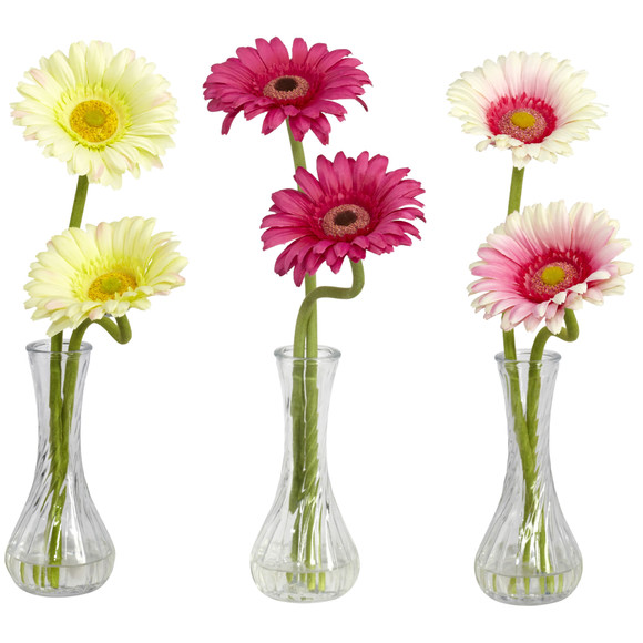 Gerber Daisy w/Bud Vase Set of 3 - SKU #1248-S3 - 4