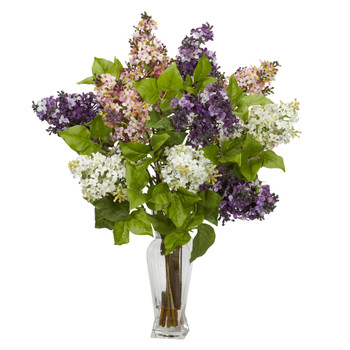 Lilac Silk Flower Arrangement - SKU #1256-AS