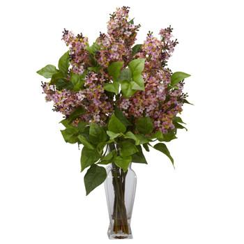 Lilac Silk Flower Arrangement - SKU #1256