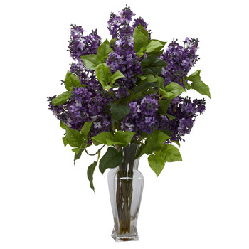 Lilac Silk Flower Arrangement - SKU #1256-PP