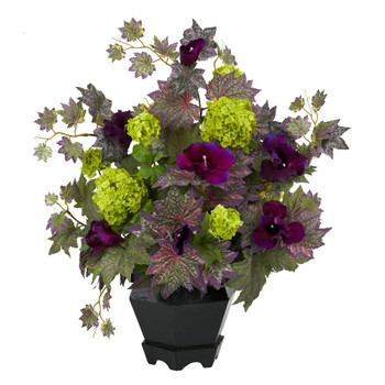 Morning Glory Hydrangea Silk Flower Arrangement - SKU #1259