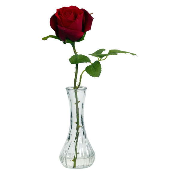Rose w/Bud Vase Set of 3 - SKU #1269-S3 - 2