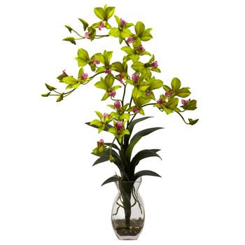 Dendrobium Orchid w/Vase Arrangement - SKU #1292-GR
