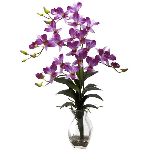 Dendrobium Orchid w/Vase Arrangement - SKU #1292-PP