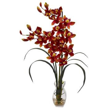 Cymbidium Orchid w/Vase Arrangement - SKU #1293-BG