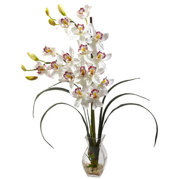 Cymbidium Orchid w/Vase Arrangement - SKU #1293