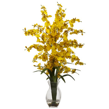 Dancing Lady Orchid w/Vase Arrangement - SKU #1294-YL