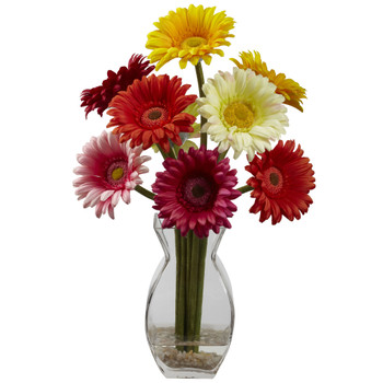 Gerber Daisy w/Vase Arrangement - SKU #1297-AS