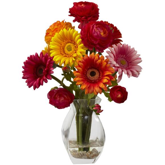 Gerber Daisy Ranunculus Delight Arrangement - SKU #1298 - 1