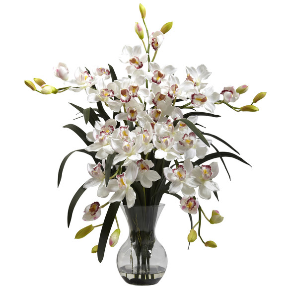 Large Cymbidium w/Vase Arrangement - SKU #1300