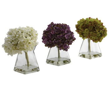 Hydrangea w/Vase Set of 3 - SKU #1313-S3