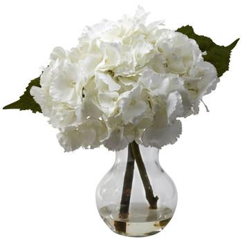 Blooming Hydrangea w/Vase Arrangement - SKU #1314