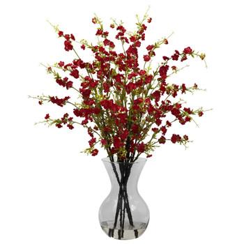 Cherry Blossoms w/Vase Arrangement - SKU #1315