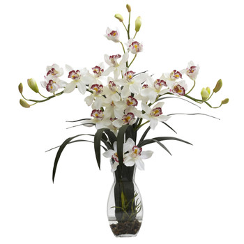 Triple Cymbidium w/Vase Arrangement - SKU #1322