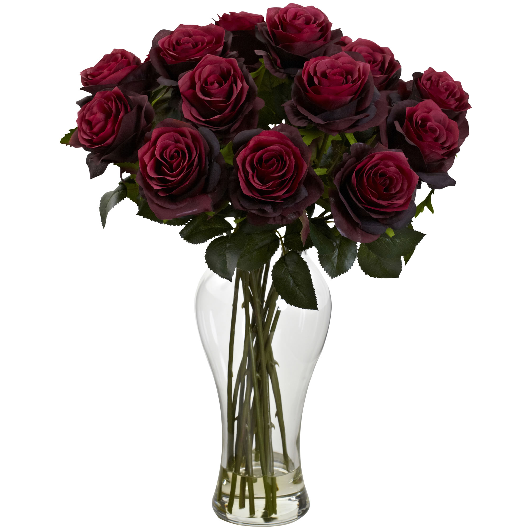 Artificial 18 blooming roses bouquet flowers arrangement faux image is loading artificial 18 034 blooming roses bouquet flowers arrangement izmirmasajfo