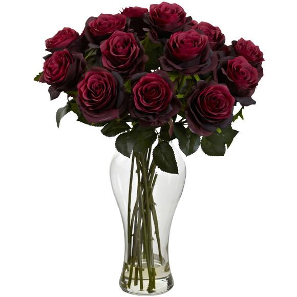 Blooming Roses w/Vase - SKU #1328 - 2