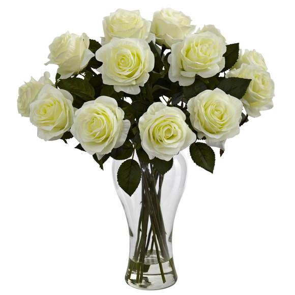 Blooming Roses w/Vase - SKU #1328 - 1